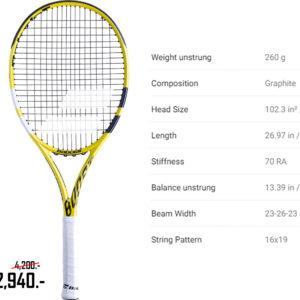 ไม้เทนนิส BABOLAT BOOST A